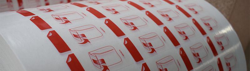 Folienetiketten vom Profi. Wir zeigen verschiedene Folienetiketten auf dem Bild.