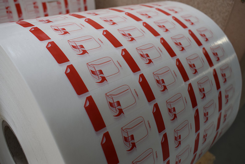 Froben Druck Produkte: Etiketten mit Leimneutralisierung