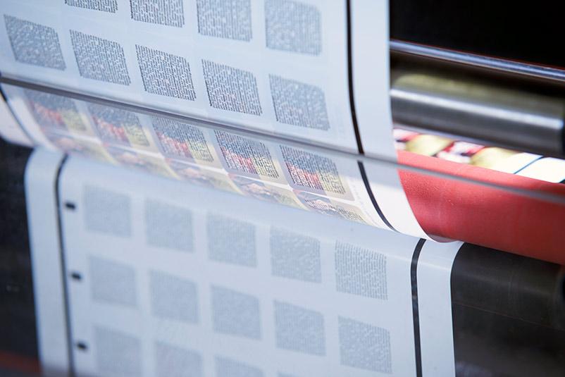 Froben Druck Produkte: Etiketten mit Rückseitendruck