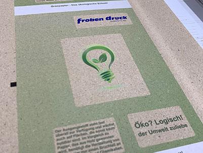 Froben Druck Produkte: Grass paper labels
