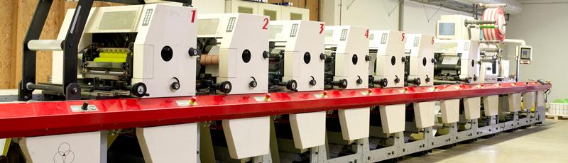 Flexodruckmaschine für Etiketten
