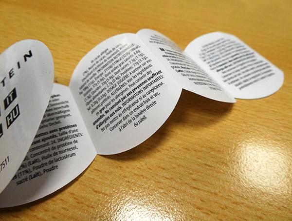 Froben Druck Produkte: Booklet-Etiketten