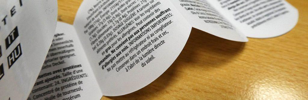 Booklet-Etiketten von Froben Druck. Verschiedene Varainaten von Booklets.