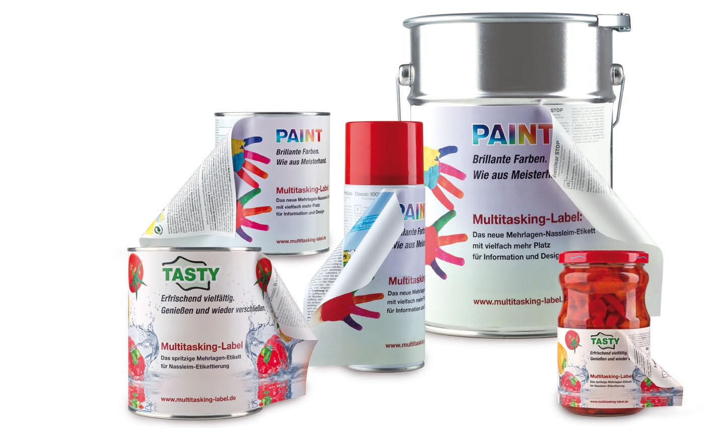 Froben Druck Produkte: Multi-Layer Wet-Adhesive Labels